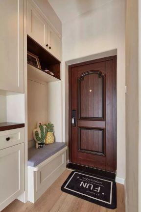 84平现代风格进门玄关鞋柜设计图图片