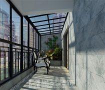 国瑞花园165㎡欧式四居室阳台效果图