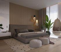 单身公寓精装卧室吊篮设计效果图2018