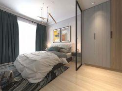 現代簡約140平米四居臥室隔斷裝修效果圖