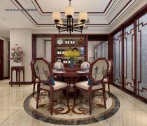 新中式150平方米四居室餐厅装修效果图