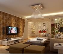 雍和家园125平米三居现代简约客厅装修案例