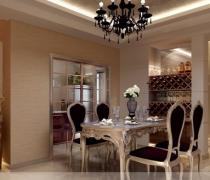 雍和家园125平米三居现代简约餐厅装修案例