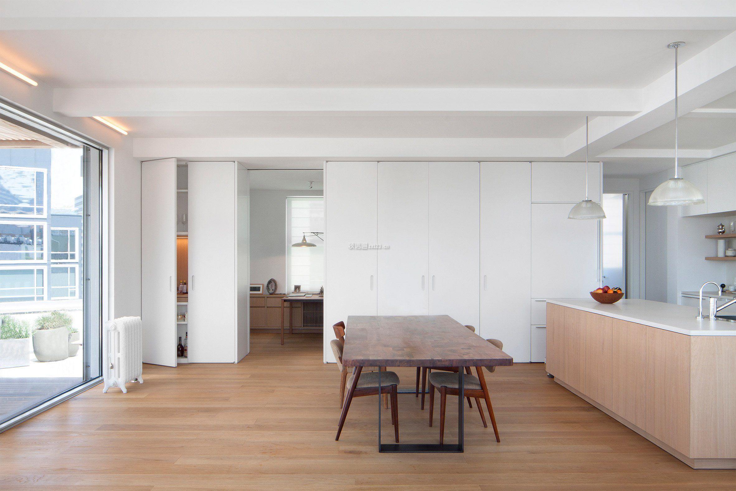 135平米房子餐厅木地板装修设计图一览