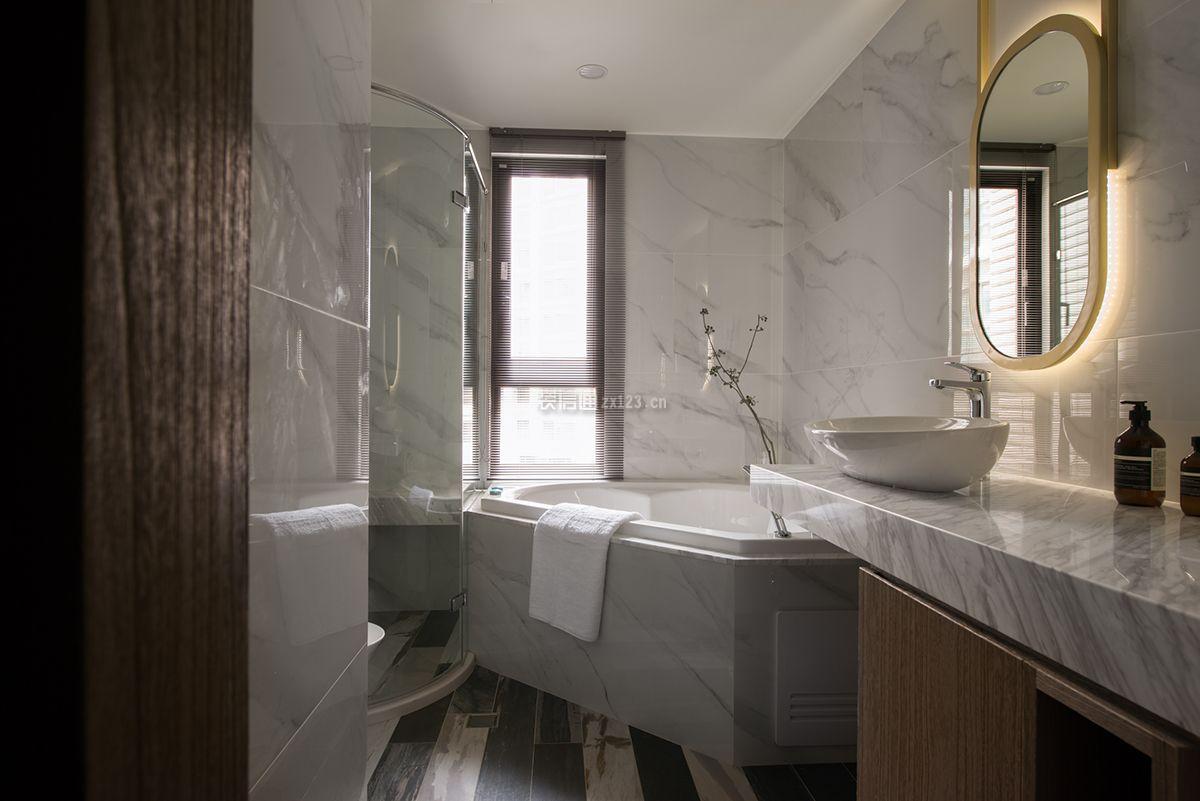 135平米房子卫生间浴室装修设计图一览_装修123效果图