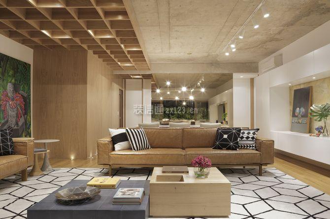 135平米房子创意客厅吊顶造型设计图一览
