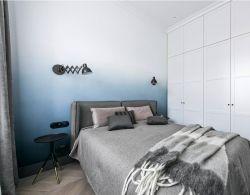 120平北歐三居臥室背景墻裝修設計圖