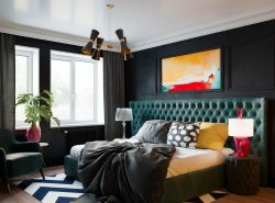 135平米房子歐式臥室床頭軟包設計圖