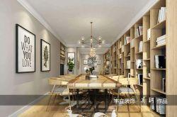 家庭書房整體書架設計裝潢圖片