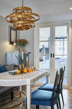 現代輕奢風格餐廳廚房門設計圖片