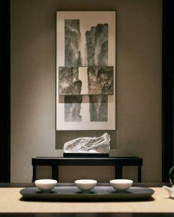 210平新中式風格別墅茶室裝修圖