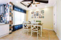 105平方房子地中海風格餐廳裝飾設計圖