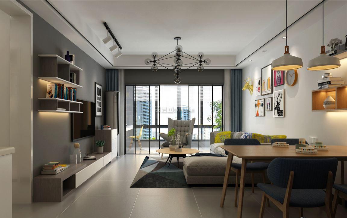 简约吊灯110平方米二居餐厅风格设计图澳洲v吊灯广告设计图片