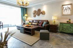 成都美式風格新房沙發背景墻裝修設計