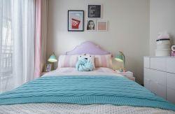 簡約北歐128平四居臥室床頭背景墻設計圖片