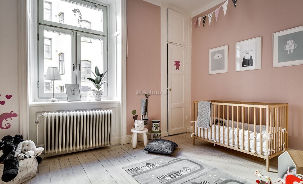 二室二厅房屋婴儿卧室装修设计图_装修123效果图