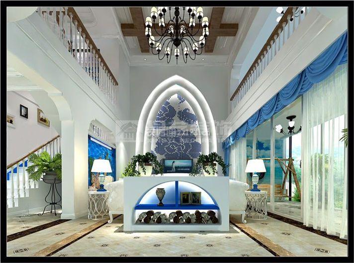 地中海玄关装修 地中海玄关装饰设计图