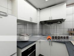 簡約現代風格三居室家庭廚房裝飾效果圖