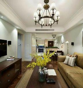 2018简约美式家居客厅装修 2018客厅简约美式家具图片图片