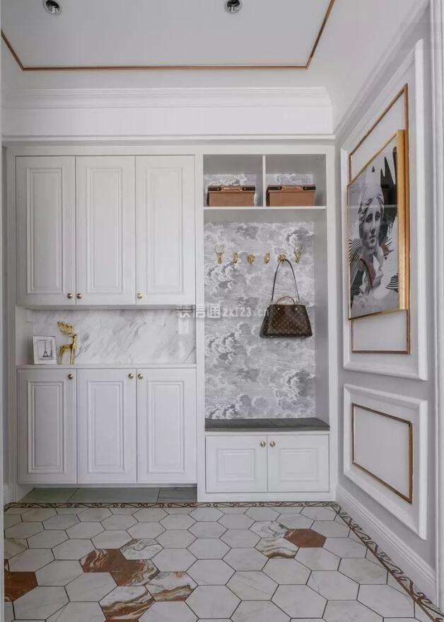 房屋玄关鞋柜整体装修设计图片