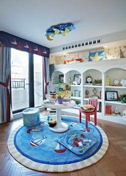 2018時尚簡潔兒童房顏色搭配設計圖片