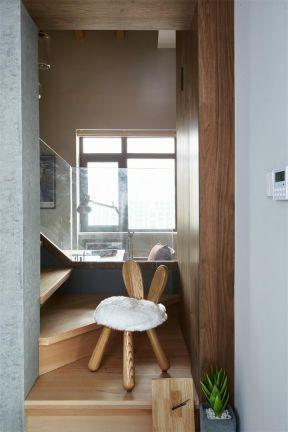 實木復式樓梯效果圖 復式樓梯扶手效果圖