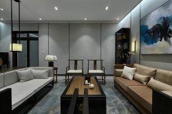 巴東海城135㎡新中式大平層客廳裝修效果圖