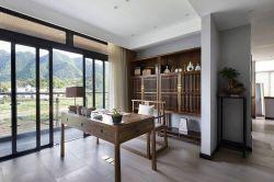 巴東海城135㎡新中式大平層書房裝修效果圖