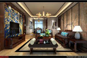 熙龙湾110㎡新中式三居室装修案例