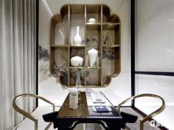 大氣新中式106平四居茶室壁柜墻裝修效果圖