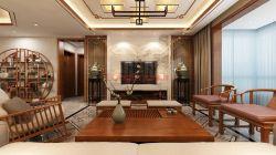 300平米新中式風格大四居客廳搭配裝修效果圖