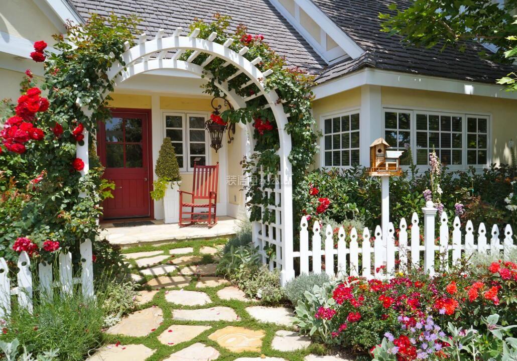 乡村花园别墅院墙大门创意设计图片