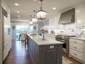 2020一字型橱柜效果图 2020一字型厨房装修设计