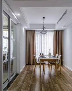 簡約風格100平米二居室餐廳木地板裝修設計圖