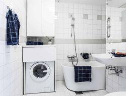 北歐簡約設計風格衛浴間裝潢圖片