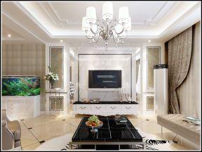 现代简欧风格电视背景墙装修效果图片 简欧风格电视背景墙装修效果图图片