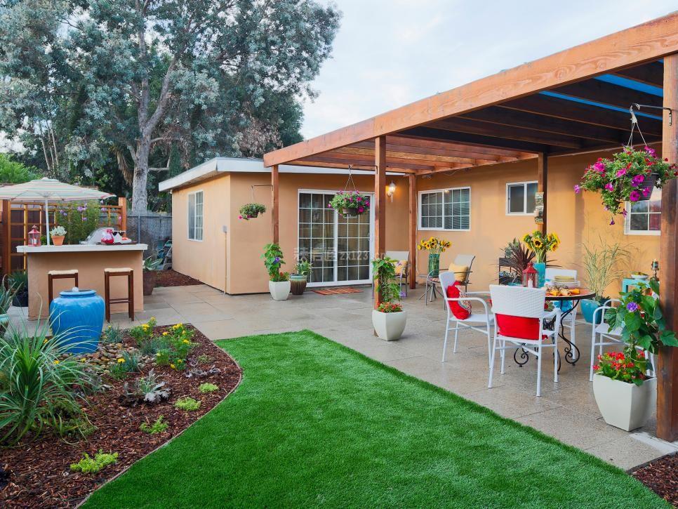 2018现代平房院子小花园设计图片