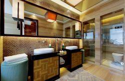 東南亞家裝衛生間洗手臺鏡子圖片