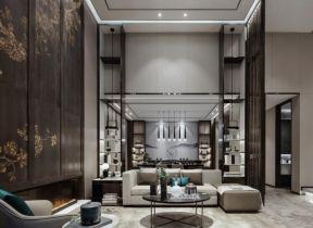 新中式復式裝修 新中式復式樓 挑高客廳設計