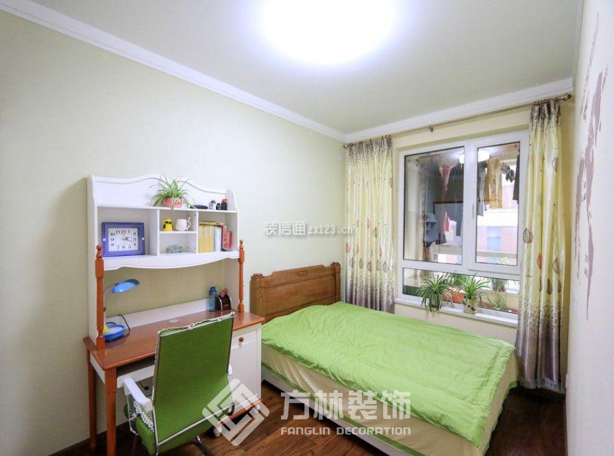 116㎡三居室简约风格次卧飘窗设计图片图片