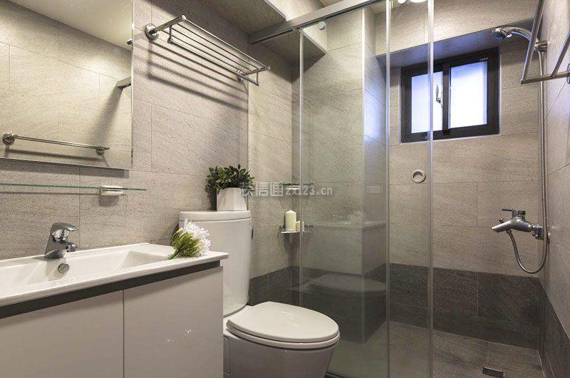 72平米家庭卫生间干湿分离装修效果图