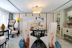 世茂御景灣220㎡新中式風格餐廳裝修效果圖