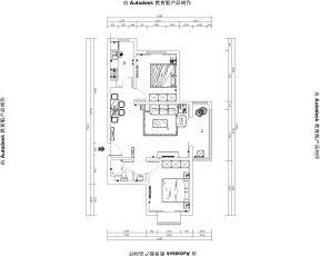 2018裝修平面圖 90平兩居室裝修平面圖