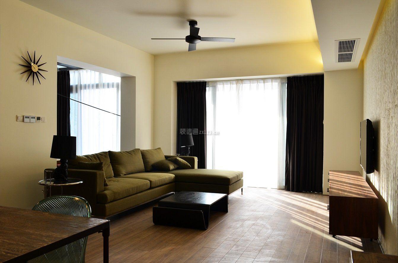 绵阳120平房子室内实木地板装修效果图