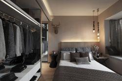 綿陽120平房子臥室開放式衣帽間裝修效果圖