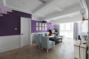 簡約美式客廳吊頂 簡約美式客廳背景墻