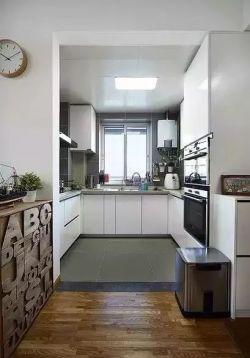 簡約風格90平米小戶型U型廚房櫥柜家裝圖片