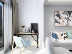 現代簡約風格93㎡三居客廳陽臺背景墻設計效果圖