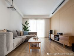 簡約日式風格94平二居客廳設計圖片