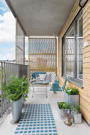 家庭休闲阳台装修设计效果图大全